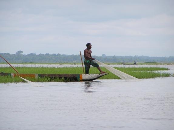 A fisherman in Ganvie, Benin.  Taken when I lived in West Africa.